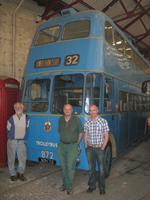 Walsall 872 at Aston Manor with Roy Pearc,e Colin Page and Neil Preston, who carried out the restoration work 22 May 2011
