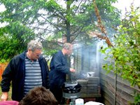 Graham Bilbé shows his barbecue skills